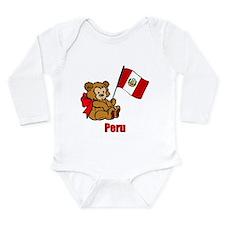Peru Teddy Bear Long Sleeve Infant Bodysuit