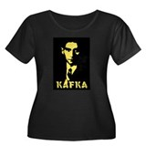 Franz Kafka Women's Plus Size Scoop Neck Dark T-Sh
