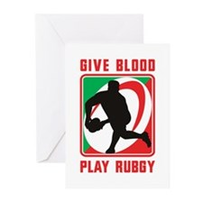 Rugby player pass Greeting Cards (Pk of 20)