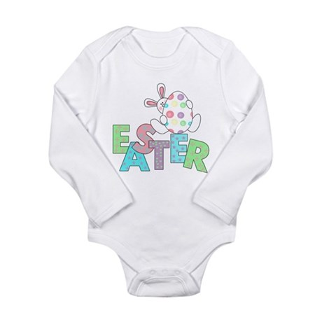 Bunny With Easter Egg Long Sleeve Infant Bodysuit