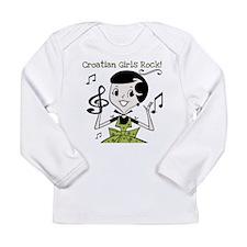 Croatian Girls Rock Long Sleeve Infant T-Shirt