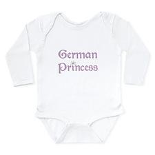 German Princess Long Sleeve Infant Bodysuit