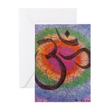 Chakra inspired Om symbol Greeting Card