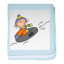 Snow Tubing Infant Blanket