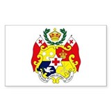 Tonga Coat of Arms Rectangle Decal