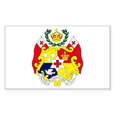 Tonga Coat of Arms Rectangle Decal