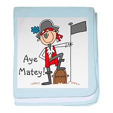 Aye Matey Pirate Infant Blanket