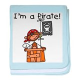 Monkey I'm a Pirate Infant Blanket