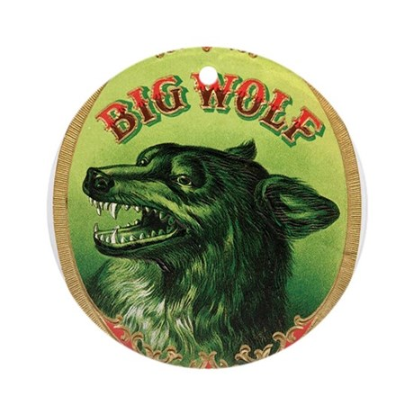 Big Wolf Ornament (Round)