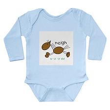 Brown Horse Long Sleeve Infant Bodysuit