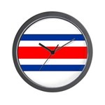 Costa Rica Flag Wall Clock