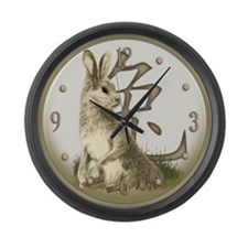 Chinese Year of the Rabbit Large Wall Clock