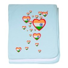 Hearts (Flag - India) - Infant Blanket