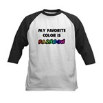 My favorite color is rainbow Kids Baseball Jersey