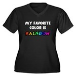 My favorite color is rainbow Women's Plus Size V-N