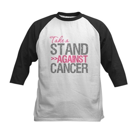 Take a Stand Breast Cancer Kids Baseball Jersey