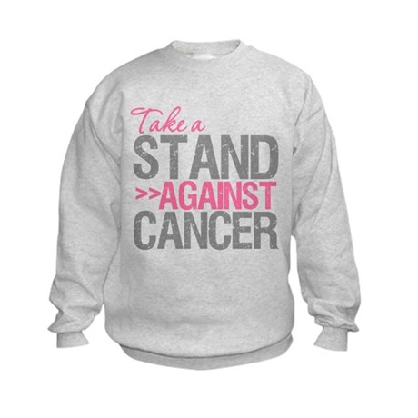 Take a Stand Breast Cancer Kids Sweatshirt