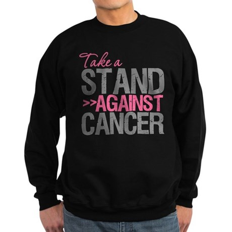 Take a Stand Breast Cancer Sweatshirt (dark)