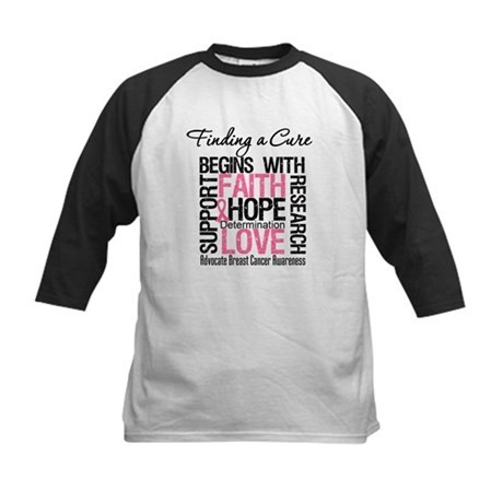 Finding a Cure Breast Cancer Kids Baseball Jersey