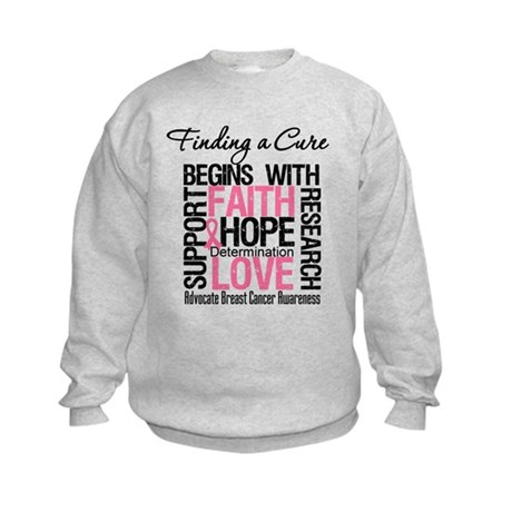 Finding a Cure Breast Cancer Kids Sweatshirt