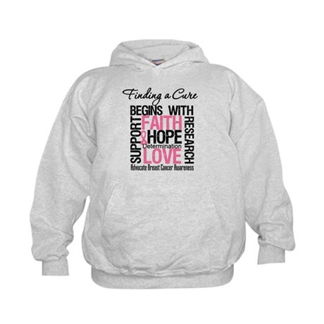 Finding a Cure Breast Cancer Kids Hoodie