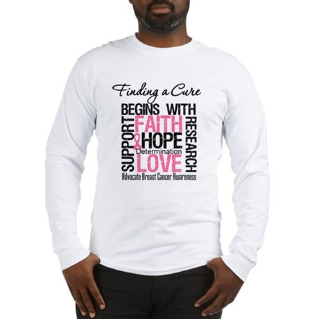 Finding a Cure Breast Cancer Long Sleeve T-Shirt
