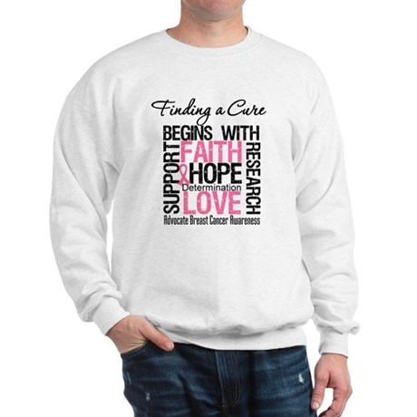 Finding a Cure Breast Cancer Sweatshirt
