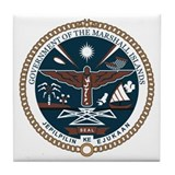 Marshall Islands Coat of Arms Tile Coaster