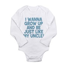 Just Like My Uncle Long Sleeve Infant Bodysuit