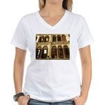 Singapore Shopkeeper Homes Women's V-Neck T-Shirt