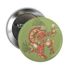 "Cute Mayan 2.25"" Button"