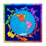 Peaceful Animal Kingdom Tile Coaster