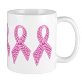 Pink Ribbon Jewels Small Mug