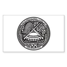 American Samoa Coat of Arms Rectangle Decal