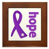 Hope Ribbon Pancreatic Cancer Framed Tile