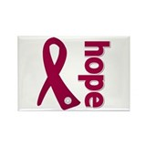 Myeloma Hope Ribbon Rectangle Magnet