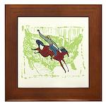 American Cowboy Framed Tile