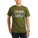 Pastel SIGN BABY SQ Organic Men's T-Shirt (dark)