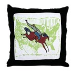 American Cowboy Throw Pillow