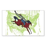 American Cowboy Rectangle Sticker