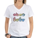 Pastel SIGN BABY SQ Women's V-Neck T-Shirt
