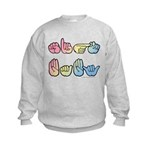 Pastel SIGN BABY SQ Kids Sweatshirt
