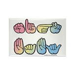 Pastel SIGN BABY SQ Rectangle Magnet (100 pack)