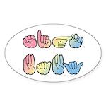 Pastel SIGN BABY SQ Sticker (Oval 50 pk)