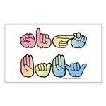 Pastel SIGN BABY SQ Sticker (Rectangle 50 pk)