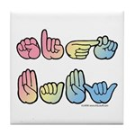 Pastel SIGN BABY SQ Tile Coaster