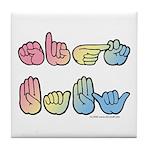 Pastel SIGN BABY SQ Tile Coaster