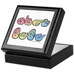 Pastel SIGN BABY SQ Keepsake Box