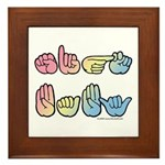 Pastel SIGN BABY SQ Framed Tile