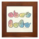Pastel SIGN BABY SQ Framed Tile